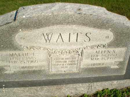 WAITS, MATTIE L - Greene County, Arkansas | MATTIE L WAITS - Arkansas Gravestone Photos