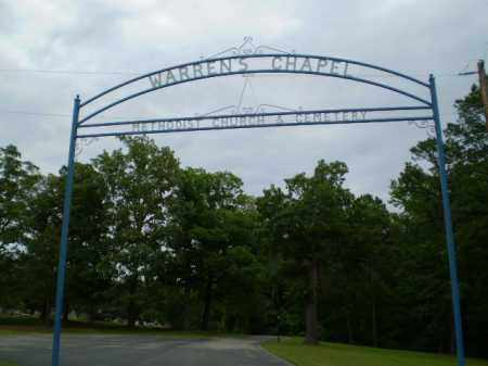*WARREN'S CHAPELCEMETERY SIGN,  - Greene County, Arkansas |  *WARREN'S CHAPELCEMETERY SIGN - Arkansas Gravestone Photos