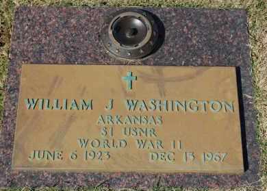 WASHINGTON (VETERAN WWII), WILLIAM J - Greene County, Arkansas | WILLIAM J WASHINGTON (VETERAN WWII) - Arkansas Gravestone Photos