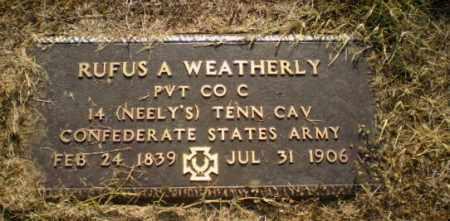 WEATHERLY  (VETERAN CSA), RUFUS - Greene County, Arkansas | RUFUS WEATHERLY  (VETERAN CSA) - Arkansas Gravestone Photos