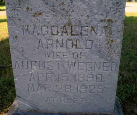 ARNOLD WEGNER, MAGDALENA - Greene County, Arkansas | MAGDALENA ARNOLD WEGNER - Arkansas Gravestone Photos