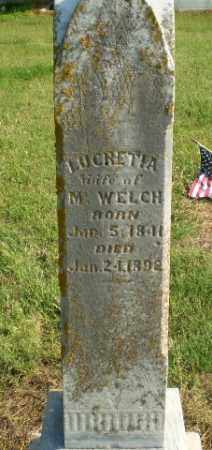 WELCH, LUCRETIA - Greene County, Arkansas | LUCRETIA WELCH - Arkansas Gravestone Photos