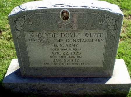 WHITE  (VETERAN), CLYDE DOYLE - Greene County, Arkansas | CLYDE DOYLE WHITE  (VETERAN) - Arkansas Gravestone Photos