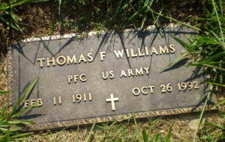 WILLIAMS  (VETERAN), THOMAS F - Greene County, Arkansas | THOMAS F WILLIAMS  (VETERAN) - Arkansas Gravestone Photos