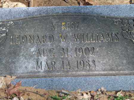 WILLIAMS, LEONARD W. - Greene County, Arkansas | LEONARD W. WILLIAMS - Arkansas Gravestone Photos