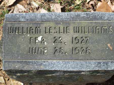 WILLIAMS, WILLIAM LESLIE - Greene County, Arkansas | WILLIAM LESLIE WILLIAMS - Arkansas Gravestone Photos