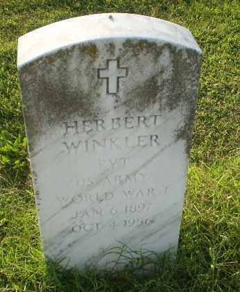 WINKLER  (VETERAN WWI), HERBERT - Greene County, Arkansas | HERBERT WINKLER  (VETERAN WWI) - Arkansas Gravestone Photos