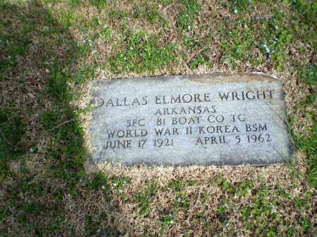 WRIGHT  (VETERAN 2 WARS), DALLAS ELMORE - Greene County, Arkansas | DALLAS ELMORE WRIGHT  (VETERAN 2 WARS) - Arkansas Gravestone Photos