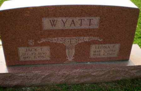 WYATT, LEONA  F - Greene County, Arkansas | LEONA  F WYATT - Arkansas Gravestone Photos