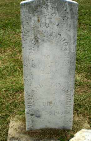 YARBROUGH  (VETERAN CSA), ABNER - Greene County, Arkansas | ABNER YARBROUGH  (VETERAN CSA) - Arkansas Gravestone Photos