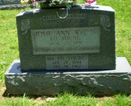 YOUNG, JOSIE ANN - Greene County, Arkansas | JOSIE ANN YOUNG - Arkansas Gravestone Photos