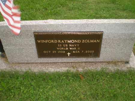 ZOLLMAN  (VETERAN WWII), WINFORD RAYMOND - Greene County, Arkansas | WINFORD RAYMOND ZOLLMAN  (VETERAN WWII) - Arkansas Gravestone Photos