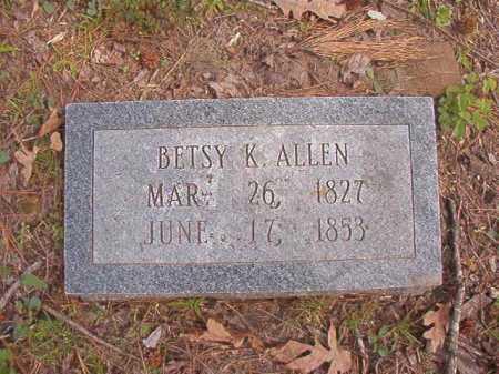 ALLEN, BETSY K - Hempstead County, Arkansas | BETSY K ALLEN - Arkansas Gravestone Photos