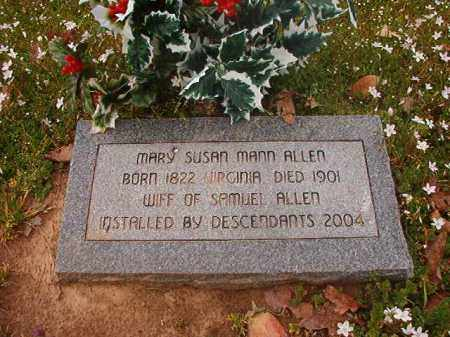 MANN ALLEN, MARY SUSAN - Hempstead County, Arkansas | MARY SUSAN MANN ALLEN - Arkansas Gravestone Photos