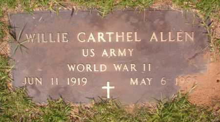 ALLEN (VETERAN WWII), WILLIE CARTHEL - Hempstead County, Arkansas | WILLIE CARTHEL ALLEN (VETERAN WWII) - Arkansas Gravestone Photos
