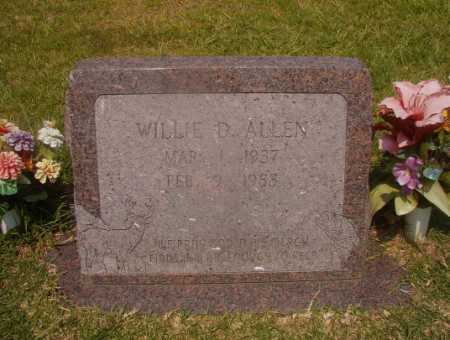 ALLEN, WILLIE D - Hempstead County, Arkansas | WILLIE D ALLEN - Arkansas Gravestone Photos