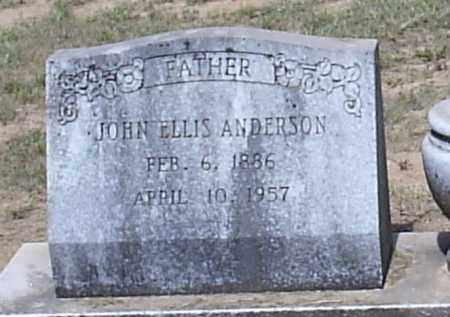 ANDERSON, JOHN ELLIS (CLOSE UP) - Hempstead County, Arkansas | JOHN ELLIS (CLOSE UP) ANDERSON - Arkansas Gravestone Photos