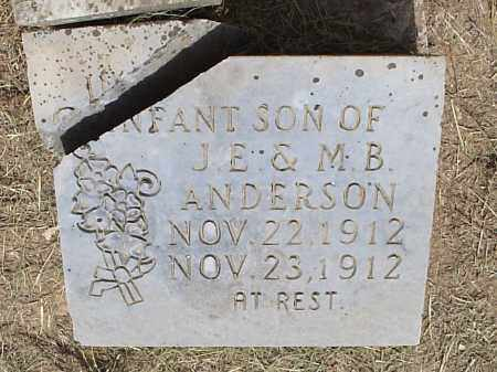 ANDERSON, INFANT SON - Hempstead County, Arkansas | INFANT SON ANDERSON - Arkansas Gravestone Photos