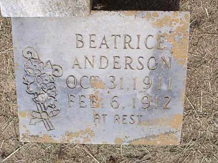 ANDERSON, BEATRICE - Hempstead County, Arkansas | BEATRICE ANDERSON - Arkansas Gravestone Photos