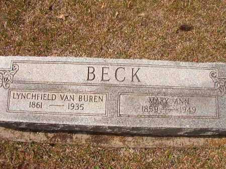BECK, MARY ANN - Hempstead County, Arkansas | MARY ANN BECK - Arkansas Gravestone Photos