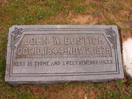 BOSTICK, JOHN W - Hempstead County, Arkansas | JOHN W BOSTICK - Arkansas Gravestone Photos