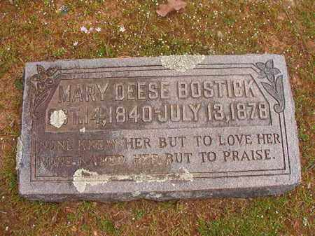 DEESE BOSTICK, MARY - Hempstead County, Arkansas | MARY DEESE BOSTICK - Arkansas Gravestone Photos