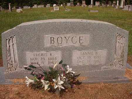 BOYCE, FANNIE B - Hempstead County, Arkansas | FANNIE B BOYCE - Arkansas Gravestone Photos