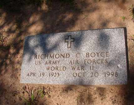 BOYCE (VETERAN WWII), RICHMOND C - Hempstead County, Arkansas | RICHMOND C BOYCE (VETERAN WWII) - Arkansas Gravestone Photos
