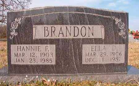 BRANDON, HANNIE F - Hempstead County, Arkansas | HANNIE F BRANDON - Arkansas Gravestone Photos