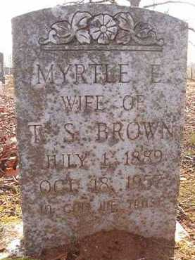 BROWN, MYRTLE E - Hempstead County, Arkansas | MYRTLE E BROWN - Arkansas Gravestone Photos