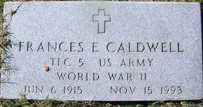 CALDWELL (VETERAN WWII), FRANCES E - Hempstead County, Arkansas | FRANCES E CALDWELL (VETERAN WWII) - Arkansas Gravestone Photos