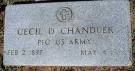 CHANDLER (VETERAN), CECIL D - Hempstead County, Arkansas | CECIL D CHANDLER (VETERAN) - Arkansas Gravestone Photos