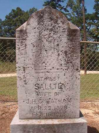 CHEATHAM, SALLIE - Hempstead County, Arkansas | SALLIE CHEATHAM - Arkansas Gravestone Photos