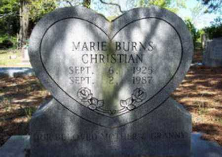 BURNS CHRISTIAN, MARIE - Hempstead County, Arkansas | MARIE BURNS CHRISTIAN - Arkansas Gravestone Photos