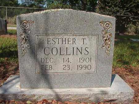 COLLINS, ESTHER T - Hempstead County, Arkansas | ESTHER T COLLINS - Arkansas Gravestone Photos