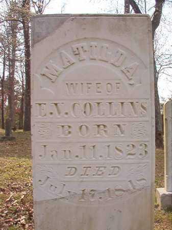 COLLINS, MATILDA - Hempstead County, Arkansas | MATILDA COLLINS - Arkansas Gravestone Photos
