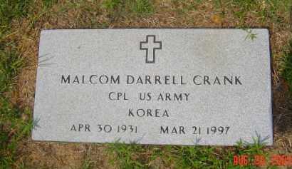 CRANK (VETERAN KOR), MALCOM DARRELL - Hempstead County, Arkansas | MALCOM DARRELL CRANK (VETERAN KOR) - Arkansas Gravestone Photos