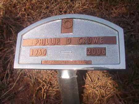 CROWE, PHILLIP D - Hempstead County, Arkansas | PHILLIP D CROWE - Arkansas Gravestone Photos