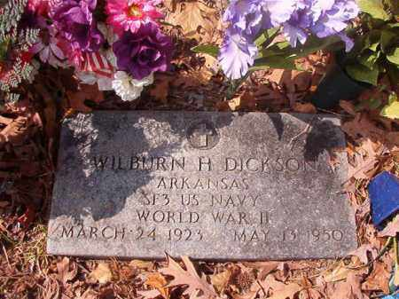 DICKSON (VETERAN WWII), WILBURN H - Hempstead County, Arkansas | WILBURN H DICKSON (VETERAN WWII) - Arkansas Gravestone Photos