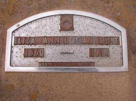 DUKE, ELIZA ANN - Hempstead County, Arkansas | ELIZA ANN DUKE - Arkansas Gravestone Photos