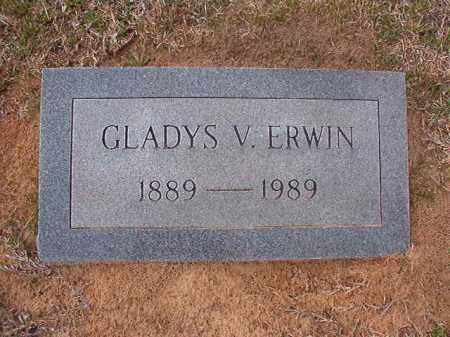 ERWIN, GLADYS V - Hempstead County, Arkansas | GLADYS V ERWIN - Arkansas Gravestone Photos