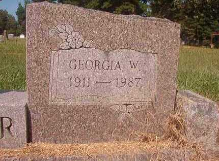 FINCHER, GEORGIA W (CLOSEUP) - Hempstead County, Arkansas | GEORGIA W (CLOSEUP) FINCHER - Arkansas Gravestone Photos