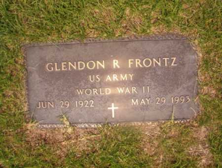 FRONTZ (VETERAN WWII), GLENDON R - Hempstead County, Arkansas | GLENDON R FRONTZ (VETERAN WWII) - Arkansas Gravestone Photos