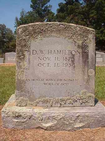 HAMILTON, D W - Hempstead County, Arkansas | D W HAMILTON - Arkansas Gravestone Photos