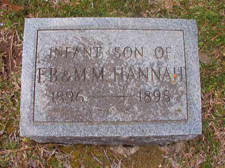 HANNAH, INFANT SON - Hempstead County, Arkansas | INFANT SON HANNAH - Arkansas Gravestone Photos