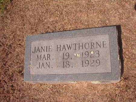 HAWTHORNE, JANIE - Hempstead County, Arkansas | JANIE HAWTHORNE - Arkansas Gravestone Photos