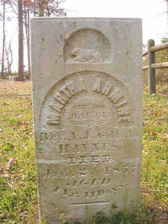 HAYNES, MARTHA ARMINE - Hempstead County, Arkansas | MARTHA ARMINE HAYNES - Arkansas Gravestone Photos