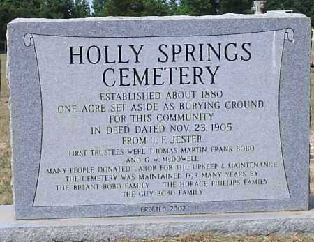 *HOLLY SPRINGS COMMEMORATION,  - Hempstead County, Arkansas |  *HOLLY SPRINGS COMMEMORATION - Arkansas Gravestone Photos