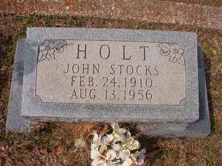HOLT, JOHN STOCKS - Hempstead County, Arkansas | JOHN STOCKS HOLT - Arkansas Gravestone Photos