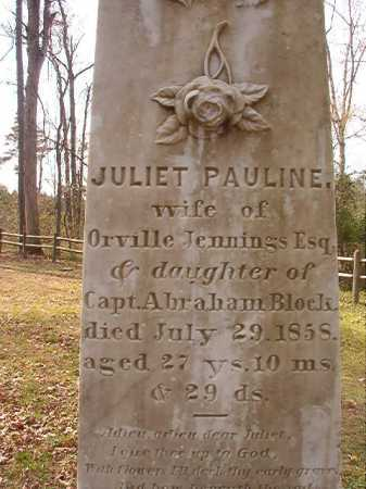 JENNINGS, JULIET PAULINE (CLOSEUP) - Hempstead County, Arkansas | JULIET PAULINE (CLOSEUP) JENNINGS - Arkansas Gravestone Photos